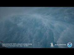 SD 1045 Inside Hurricane Sam 1414UTC Sept 30 2021
